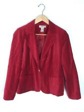Notations Petite Red Velvet Jacket, Size PM