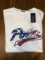 Mens Polo Ralph Lauren Large Tshirt Red White And Blue Spell Out NWT