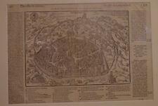 GRAVURE DE LA VILLE DE NIMES EPOQUE XVI° SIECLE PAR BELLFOREST 1575