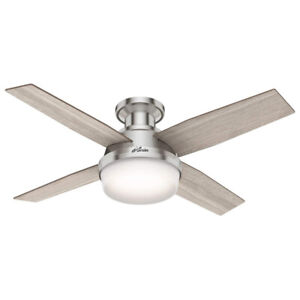 Hunter Fan Company 50283 Dempsey Ceiling Fan with LED Light and Remote, Grey Oak