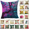 Retro Flower Throw Decorative Pillow Case Pillow Cover Sofa Car Cushion Cover