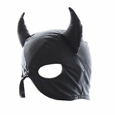 Cappuccio maschera NERA sadomaso MISSTRESS  slave SEX DILDO toy  DEVIL