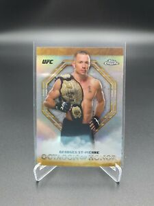 TOPPS UFC CHROME 2019 GEORGES ST-PIERRE GSP OCTAGON OF HONOR REFRACTOR CARD NM