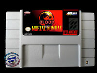 Mortal Kombat Blood ☠ SNES Video Game USA version