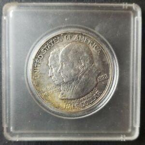 1923 S 50c Monroe Doctrine Commemorative Silver Half Dollar in a Plastic Holder