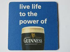 Beer Blue Coaster ~*~ Live Life to the Power of Guinness Draught Stout ~ Ireland