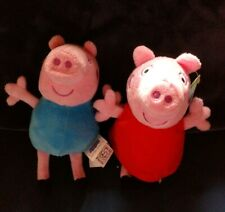 "PEPPA PIG - and George 6"" Plush Stuffed Toy Dolls -"