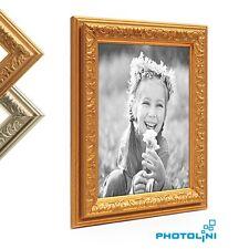 Bilderrahmen Antik-Stil Nostalgie Kunstoff-Rahmen Gold Silber Foto-Rahmen Bild