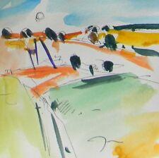 JOSE TRUJILLO ORIGINAL Watercolor Painting SIGNED Impressionism LANDSCAPE ARTIST
