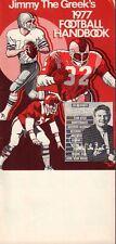1977 Football Handbook Jimmy The Greek 101617jh