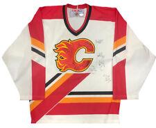 2001-02 Calgary Flames JSA Team Signed Hockey Jersey Jerome Iginlia Auto