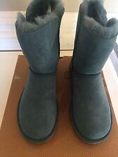 NIB UGG Australia Women's Bailey Button Everglade Green Boots Size 7 EU 38