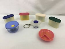 VTG Tupperware Refrigerator Magnets Key Chains Lot Of (7)