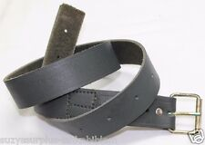 New WWII Italian green leather waist belt size 29in to 41in each E9923