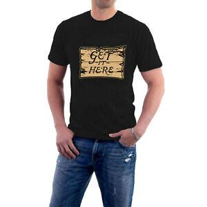 Blackadder T-shirt GET IT HERE sign CASH Baldrick Tribute Tee Sillytees