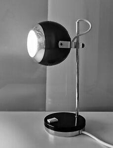70er Arteluce Sarfatti Flos Kugelleuchte Schwarz Chrom Mid Century Panton Lampe