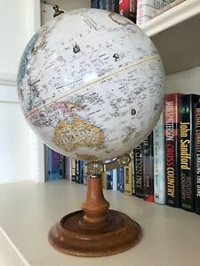 VINTAGE STYLE REPLOGLE 9 INCH DIAMETER WORLD CLASSIC SERIES GLOBE/MADE IN USA