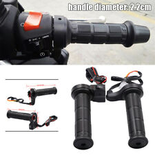 2X Motorcycle Handlebar Electric Heated Motorbike Heating Black 22mm Adjustable