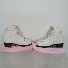 Riedell Model 10 White Figure Ice Skates Size J11 Child Girl W/Box