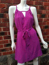 NWOT designer polka dot dress LEONA EDMISTON sz2 purple rockabilly retro vintage
