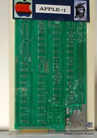 Apple I Computer Motherboard w/Schematics Signed by WOZ !!
