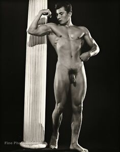 1950s BRUCE BELLAS Of L.A. Vintage Classic Male Nude Bodybuilder Photo Art 12X16
