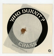 "CRASS : Who Dunnit ? - 7"" UK 1983 Crass Records !"