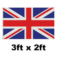 3X2FT UNION JACK FLAG GREAT BRITAIN RED WHITE BLUE VE DAY ENGLAND PARTY ENGLAND