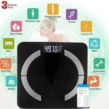 Bluetooth Personenwage Körperwaage BMI Analyse Fitnesswaage Gewicht Waage180kg