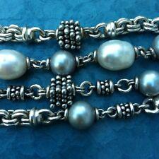 "Michael Dawkins Sterling Silver & Fresh Water Pearl Bracelet ~ 7.5 """