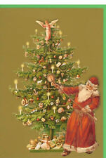 36 Handcrafted Decoupage Victorian Die-cut Tree Christmas Cards XC0051