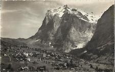 Postcard Switzerland Grindelwald Bern Wetterhorn Interlaken Rppc ca1930s