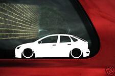 2x Baja Ford Focus mk2 5 puertas rebajado coche Contorno Silueta Pegatina, Calcomanía