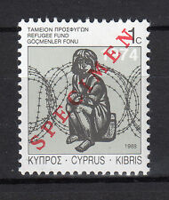 CYPRUS 1988 SPECIAL REFUGEE FUND STAMP - SPECIMEN MNH