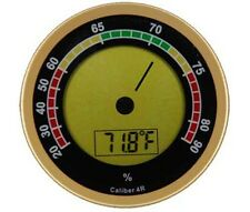 Caliber IVR 4R Gold Round Digital Hygrometer & Thermometer - 1133