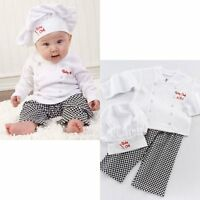 Baby Boy Girl Cook Chef Carnival Fancy Dress Party Costume Outfit Clothes Set