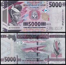 GUINEA 5000 FRANCS (P49) 2015 UNC