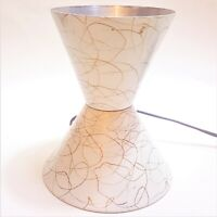 Vintage Mid-Century Modern Lava Lamp Base Stand White Gold Dribble Paint Only
