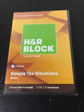 H&R Block Basic Tax Software - Mac|Windows - New - Authentic 2018