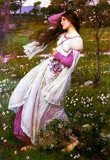 Windflowers William Waterhouse Pre Raphaelite Canvas Art Poster Print Painting
