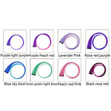2Pcs Women Clip In On Colorful Straight Hair Piece Hair Extension Synthetic Hair
