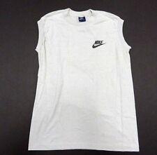 Vintage Grey Nike Cut-Off Men's Sleeveless Athletic Tank Top Size Medium (38-40)