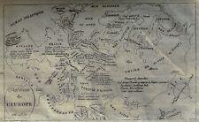 """Vosgien's Antique Map """"TABLEAU DE L'EUROPE"""" - Copper Engraving - 1821"""