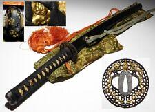 KATANA Sword KOSHIRAE NANBAN Openwork TSUBA Japanese Original Edo Sword Antique