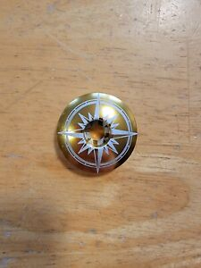 "Compass Bicycle Headset Top Cap 1 1/8"" Stem Cap Bolt Bike Gold"