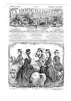 MODE ILLUSTREE SEWING PATTERN July 17 1870 - AMAZONE - RIDING COSTUME