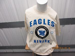 VINTAGE ANVIL NEWARK EAGLES 2XL BEIGE SHIRT NEGRO BASEBALL LEAGUE 1920-1960
