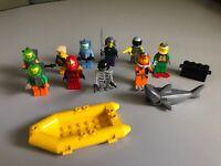 Vintage Lego explorer Minifigures Mixed Lot of 10 w/ accessories
