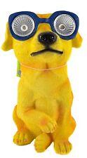Dog Solar LED Light Sensor Poly Resin Outdoor Garden Patio Cool Sunglasses