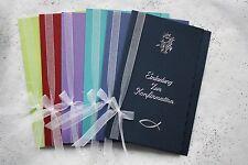 Einladungskarte Zur Konfirmation Einladungskarten Incl. Einleger Und Kuvert
